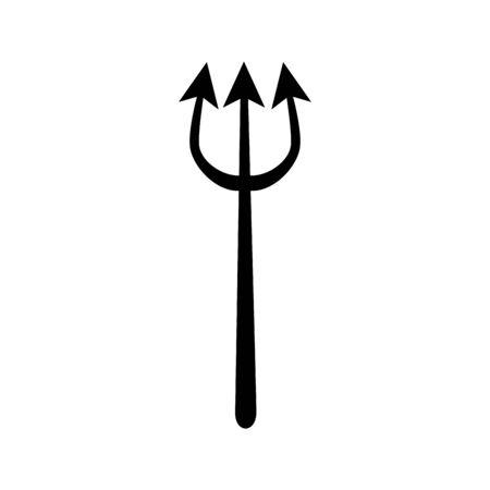 halloween devil trident isolated icon vector illustration design