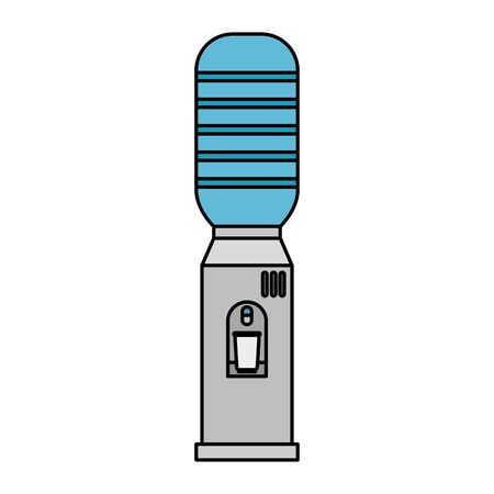office water dispenser isolated icon vector illustration design  イラスト・ベクター素材