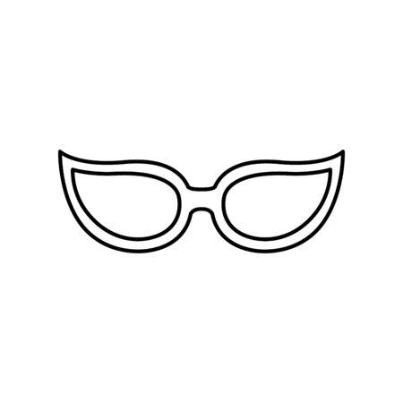 eyeglasses style pop art icon vector illustration design