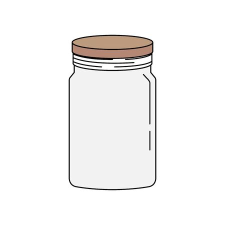 mason jar pot isolated icon vector illustration design Banque d'images - 133179281