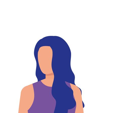 beautiful and young woman character vector illustration design Illustration