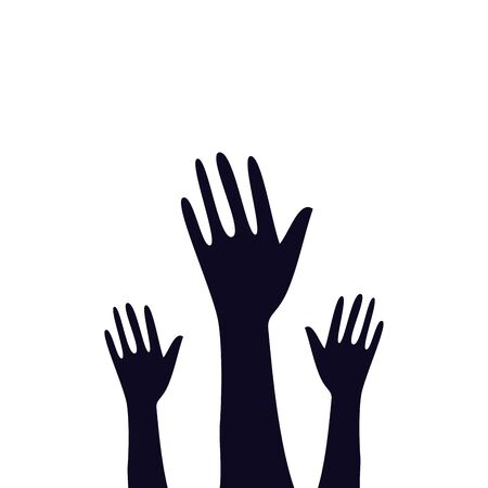 hands of zombie for halloween vector illustration design  イラスト・ベクター素材