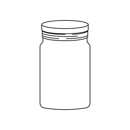 mason jar pot isolated icon vector illustration design Banco de Imagens - 133176769