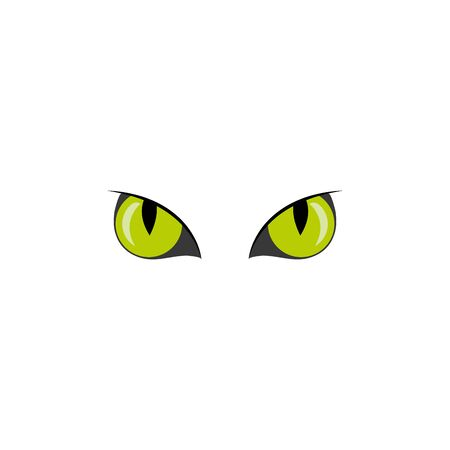eyes scary with veins of halloween vector illustration design