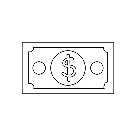 bill money dollar isolated icon vector illustration design Stock Vector - 133192222