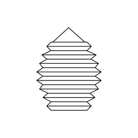 chinese decorative lamp hanging icon vector illustration design 向量圖像