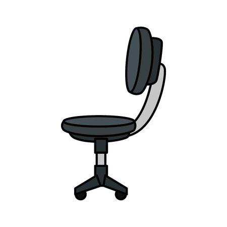 office chair equipment isolated icon vector illustration design Ilustracja