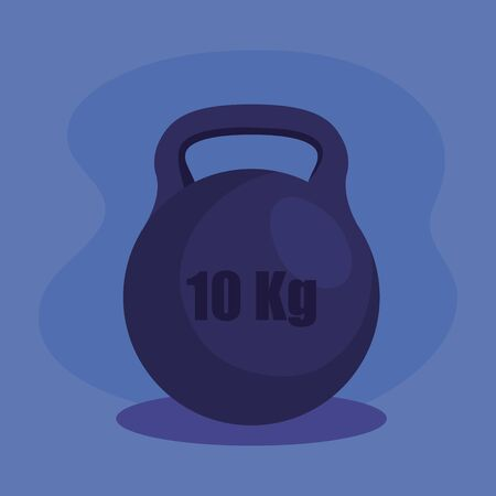 weight activity over purple background to fitness lifestyle, vector illustration