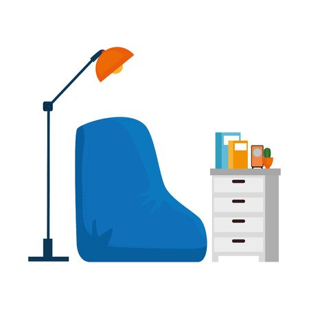 home living room place scene vector illustration design
