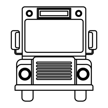 school bus transport isolated icon vector illustration design Stock Vector - 133205949