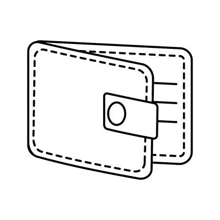 wallet money financial isolated icon vector illustration design Illustration