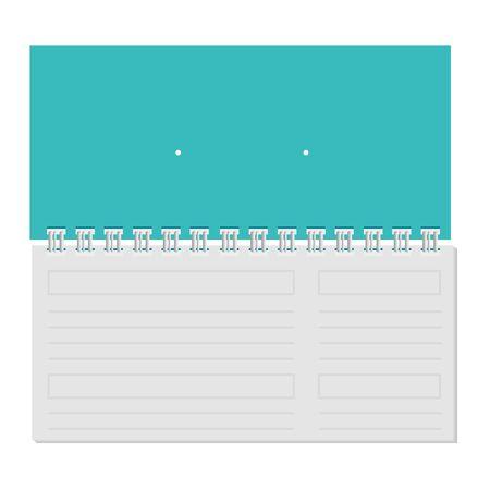 calendar with commercial promo print vector illustration design