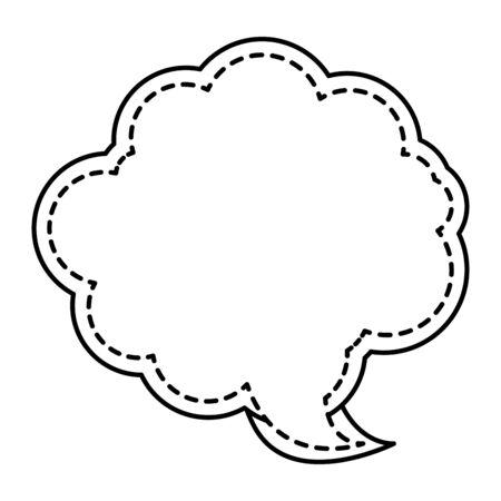 cute speech bubble message icon vector illustration design Ilustração