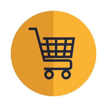 shopping cart commercial isolated icon vector illustration design Archivio Fotografico - 133213202