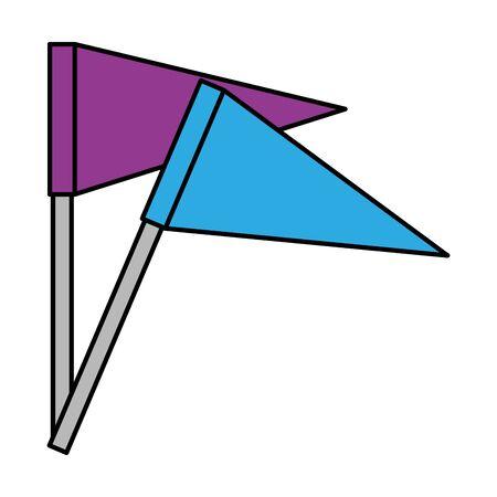 flags potition mark icon vector illustration design Vecteurs