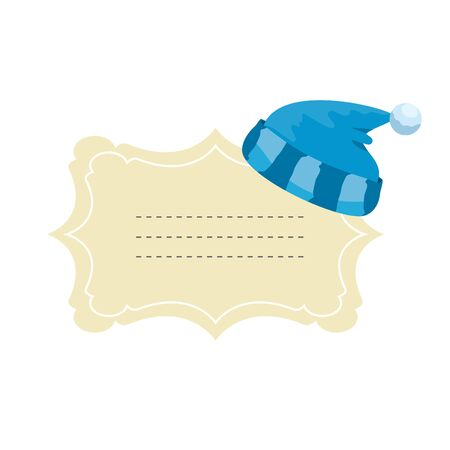 baby shower card with sleeping hat vector illustration design