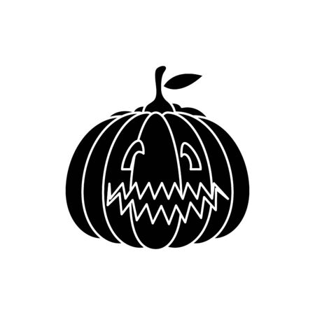 halloween pumpkin traditional isolated icon vector illustration design