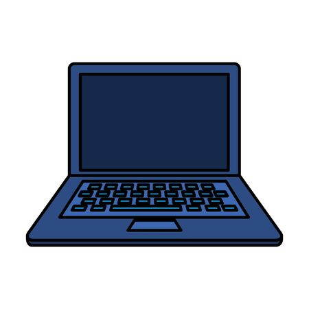 laptop computer device isolated icon vector illustration design