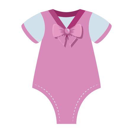 cute baby girl clothes icon vector illustration design Standard-Bild - 133251085