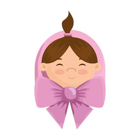 cute little girl baby character vector illustration design