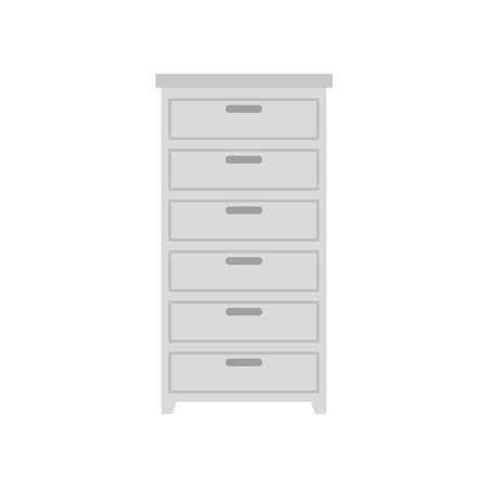 wooden drawer furniture isolated icon vector illustration design