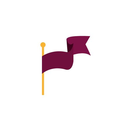 flag in stick isolated icon vector illustration design Ilustrace