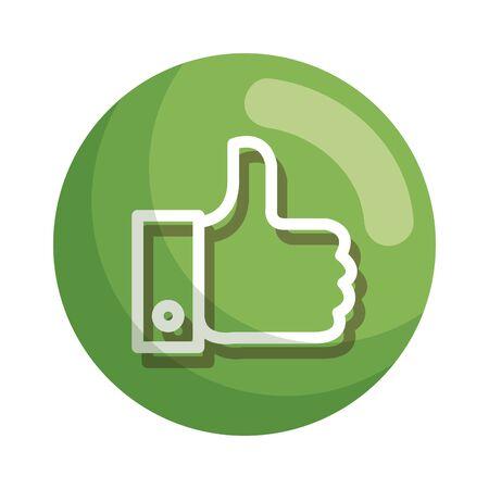 hand like social media icon vector illustration design