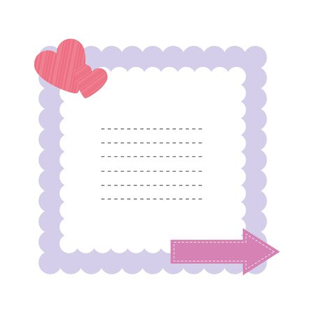 baby shower card with hearts love vector illustration design