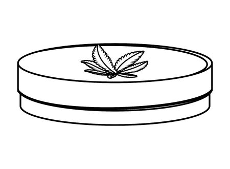 cannabis ointment natural product icon vector illustration design 向量圖像