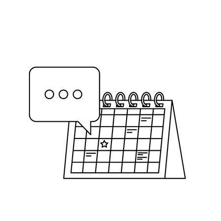 calendar reminder date with speech bubbles vector illustration design 向量圖像