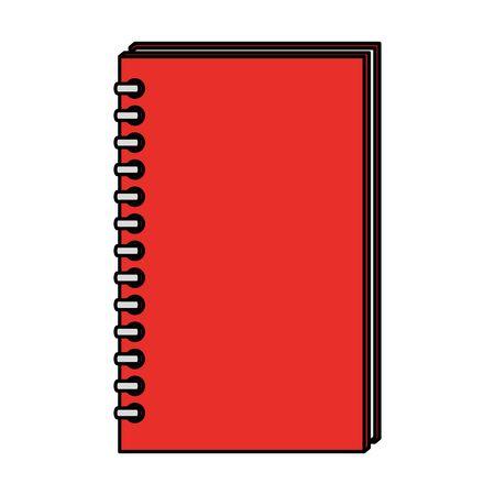 notitie boek school aanbod pictogram vector illustratie ontwerp