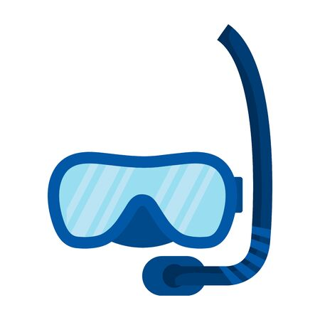 diving snorkel mask accessory icon vector illustration design Ilustracja