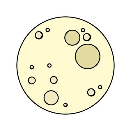 full moon bright isolated icon vector illustration design