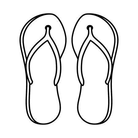 summer flip flops accessories icons vector illustration design Archivio Fotografico - 133350519