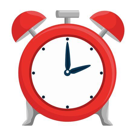 alarm clock time reminder icon vector illustration design