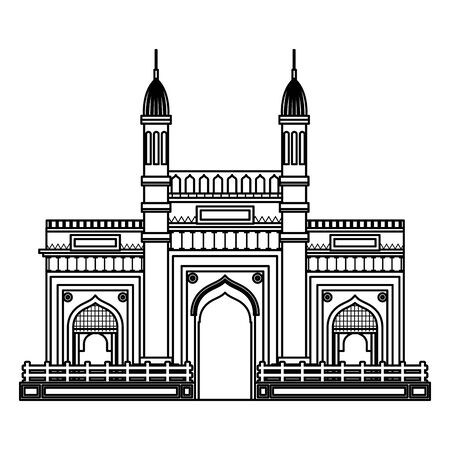 jama masjid famous building icon vector illustration design Illusztráció