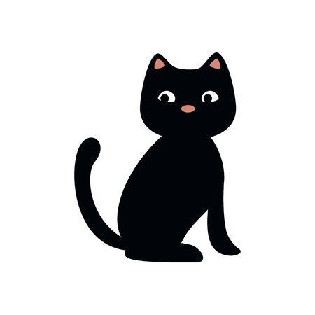 Animal gato de halloween, diseño de ilustraciones vectoriales