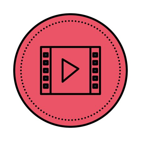 media player template isolated icon vector illustration design