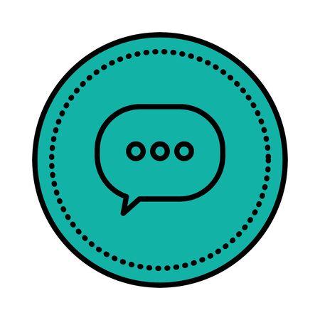 speech bubble message icon vector illustration design Ilustrace