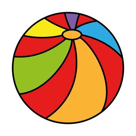 plastic ball toy icon vector illustration design
