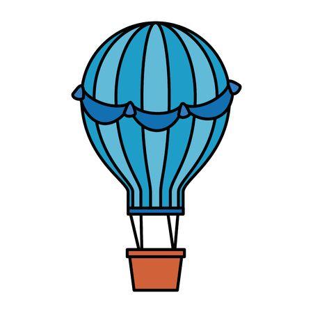 balloon air hot flying vector illustration design 스톡 콘텐츠 - 133571601