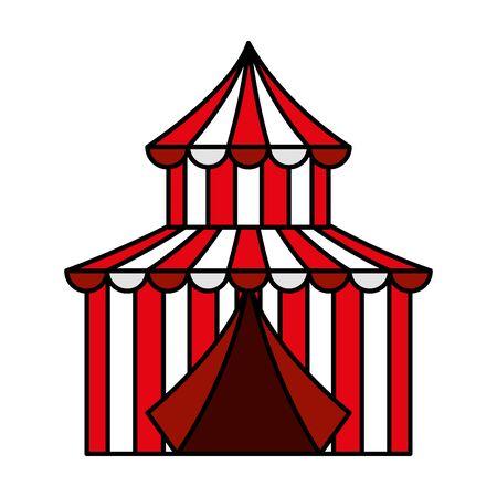 circus tent carnival icon vector illustration design 免版税图像 - 133571768