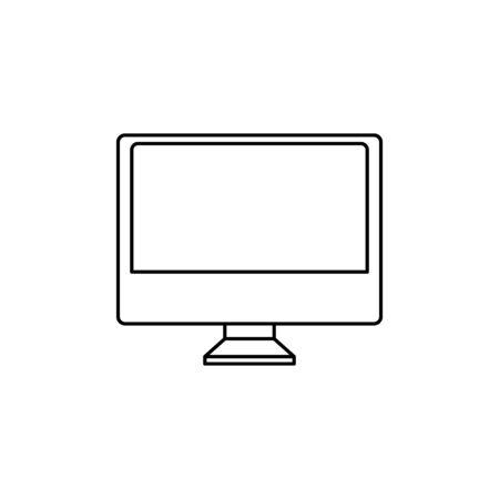 computer desktop line style icon vector illustration design Ilustração