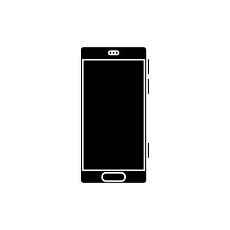 silhouette of smartphone device isolated icon vector illustration design Ilustração