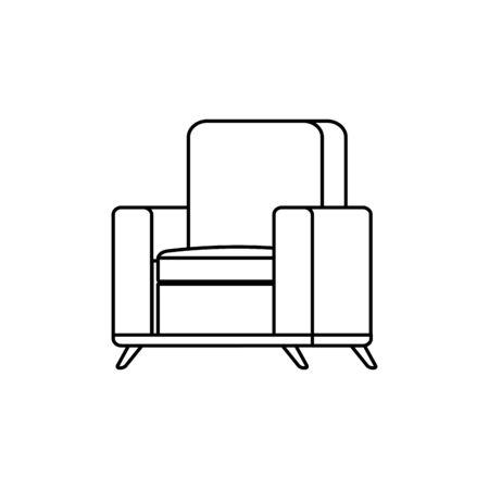 arredamento comodo divano linea stile icona illustrazione vettoriale design Vettoriali