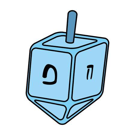 happy hanukkah pyrinola game icon vector illustration design