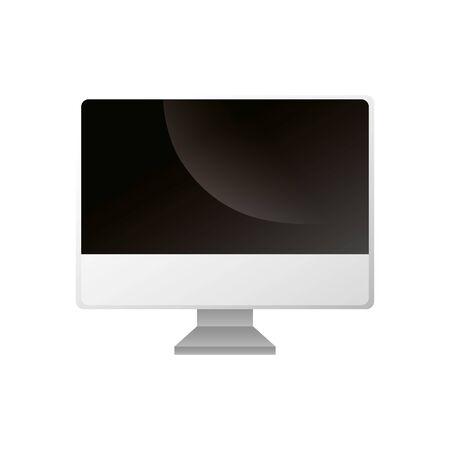 computer desktop device isolated icon vector illustration design Ilustração