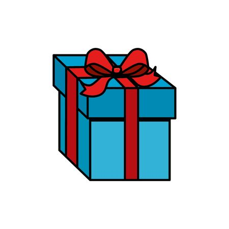 gift box present isolated icon vector illustration design Illustration
