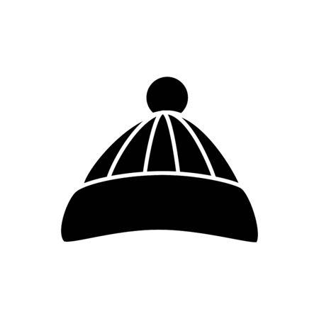 Silhouette der Hut Winter Zubehör isoliert Symbol Vektor Illustration Design Vektorgrafik
