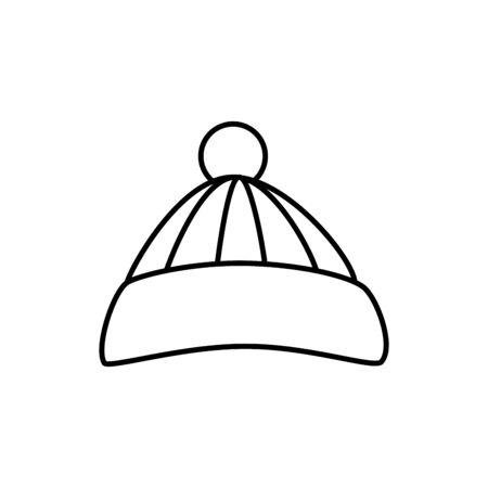 hoed winter accessoire lijn stijl pictogram vector illustratie ontwerp